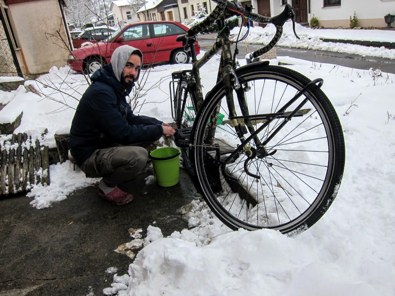 entretien vélo neige