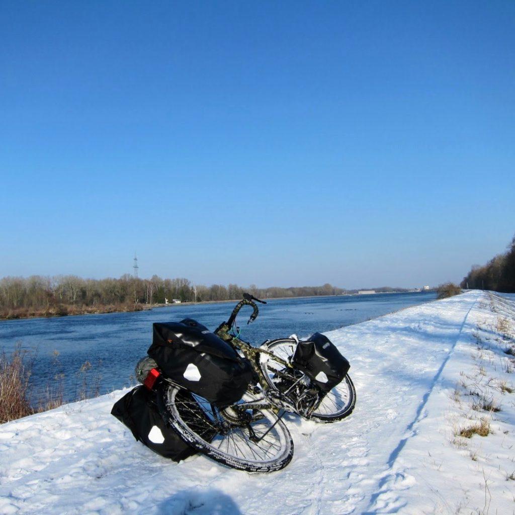 Cyclotourisme neige