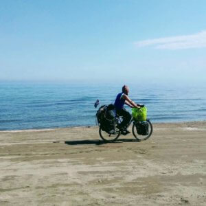 caspian sea bicyle