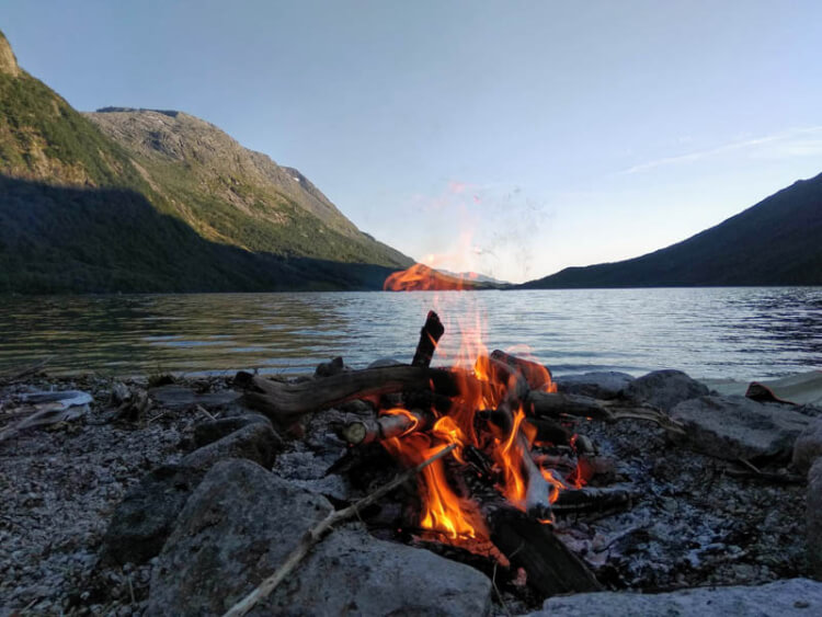 Camping frord norvège
