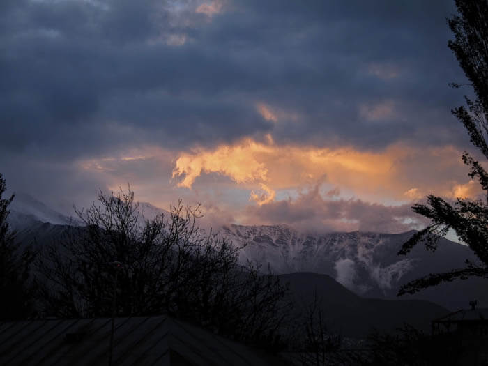 Damavand sunset