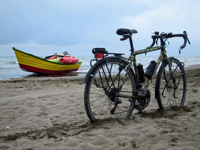 itinéraire à vélo