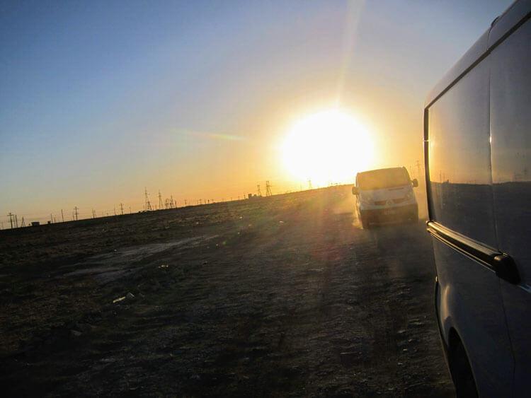 route désert Kazakhstan