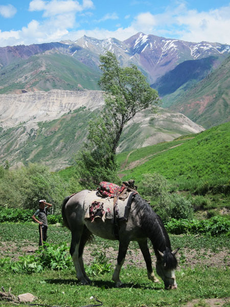 village traditionnel tadjikistan