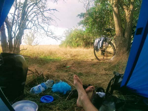 hygiène en voyage bivouac cyclotourisme