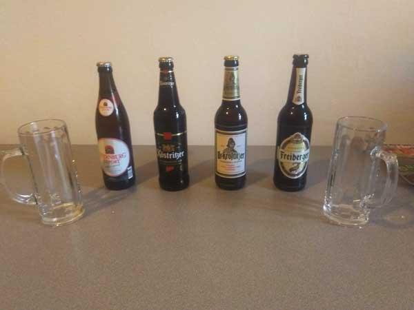 dégustation de bières allemandes
