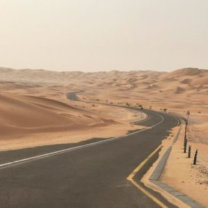 traverser le désert à vélo